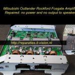 Mitsubishi outlander rockford amplifier