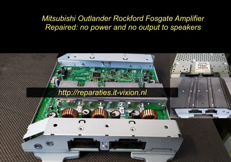 Mitsubishi outlander rockford amplifier