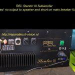 Rel stentor III Subwoofer