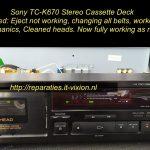 Sony TC-K670 cassette deck