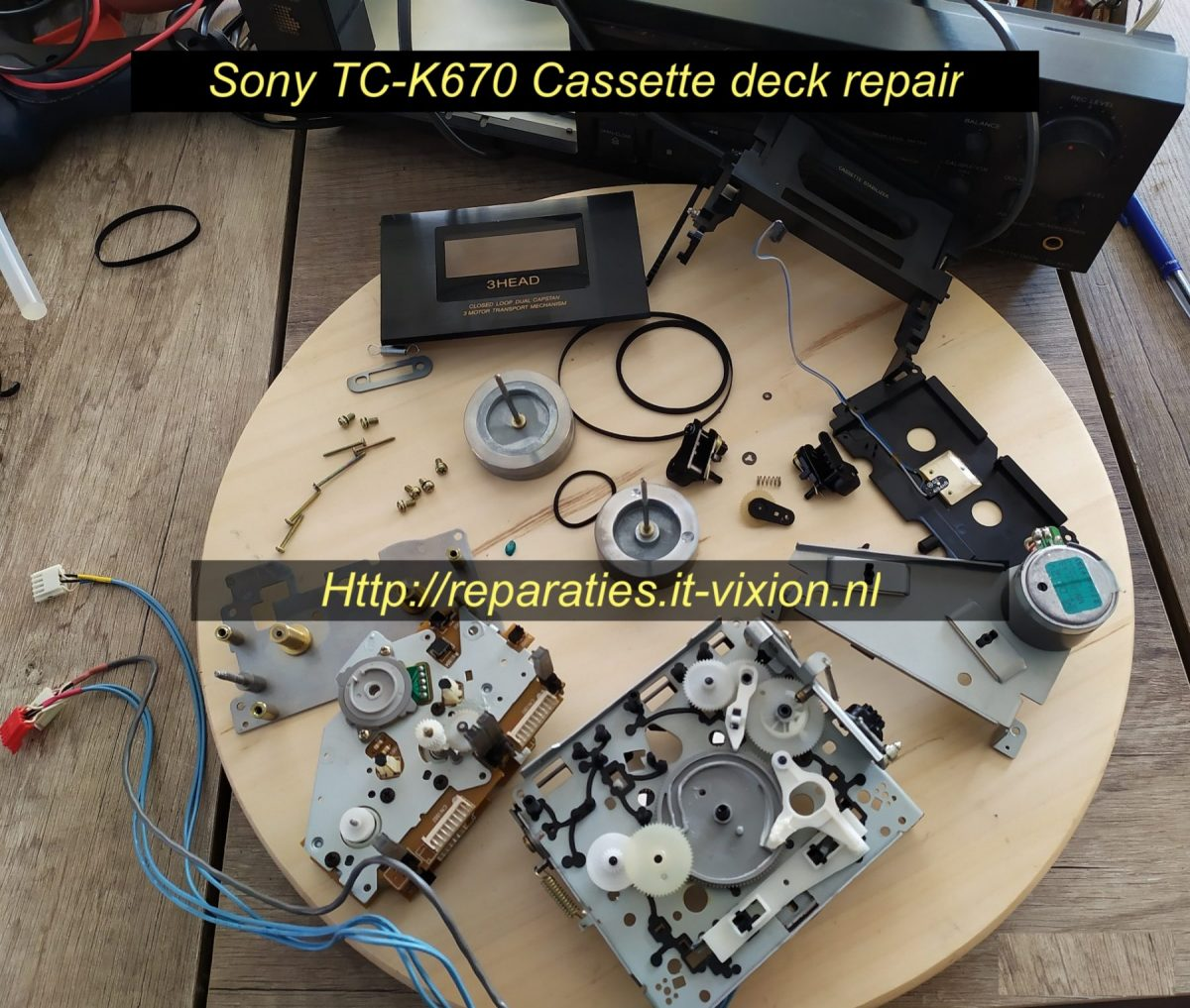 sony tc-k670 cassette deck repair
