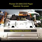 Pioneer dv2650 dvd player