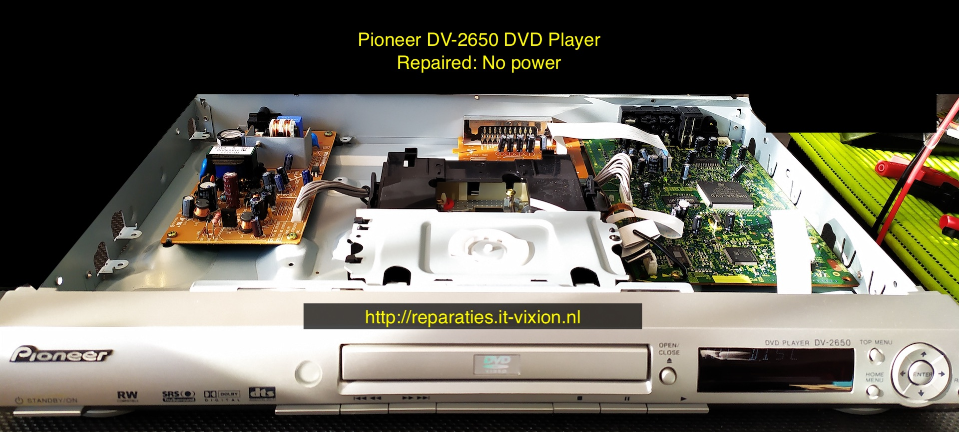 Pioneer dv2650 dvd player