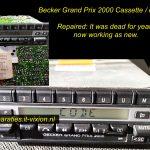 Becker grand prix 2000 cassette radio player