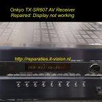 onkyo tx-sr607 display not working