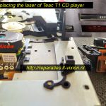 replacing laser Teac T1 cd player