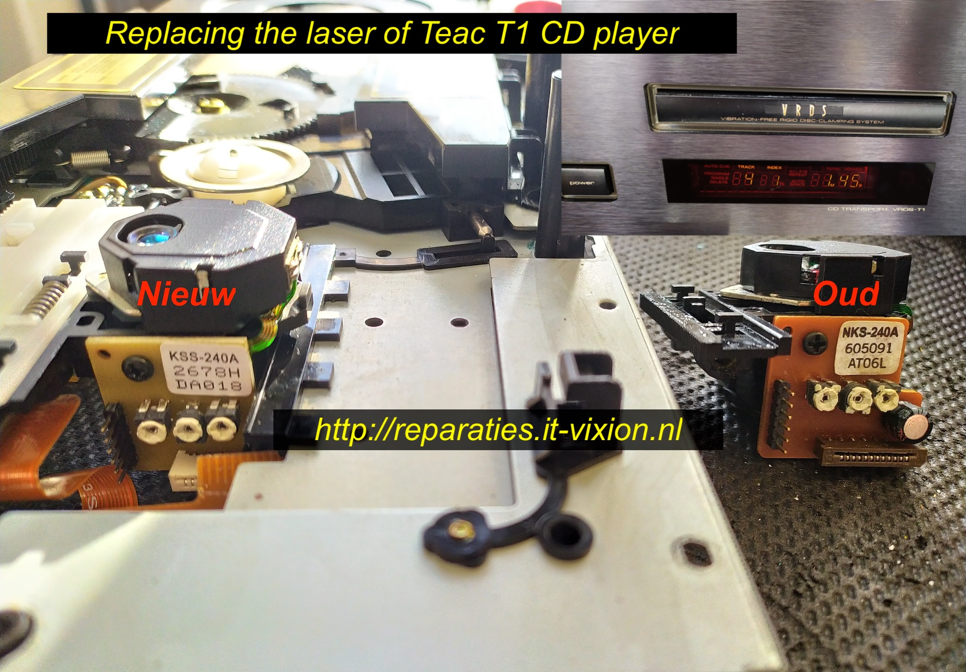 replacing laser Teac T1 cd player