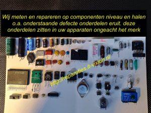 defecte onderdelen
