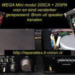Wega mini modul 205CA & 205PA