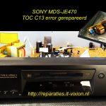 Sony mds-je470 C13 error