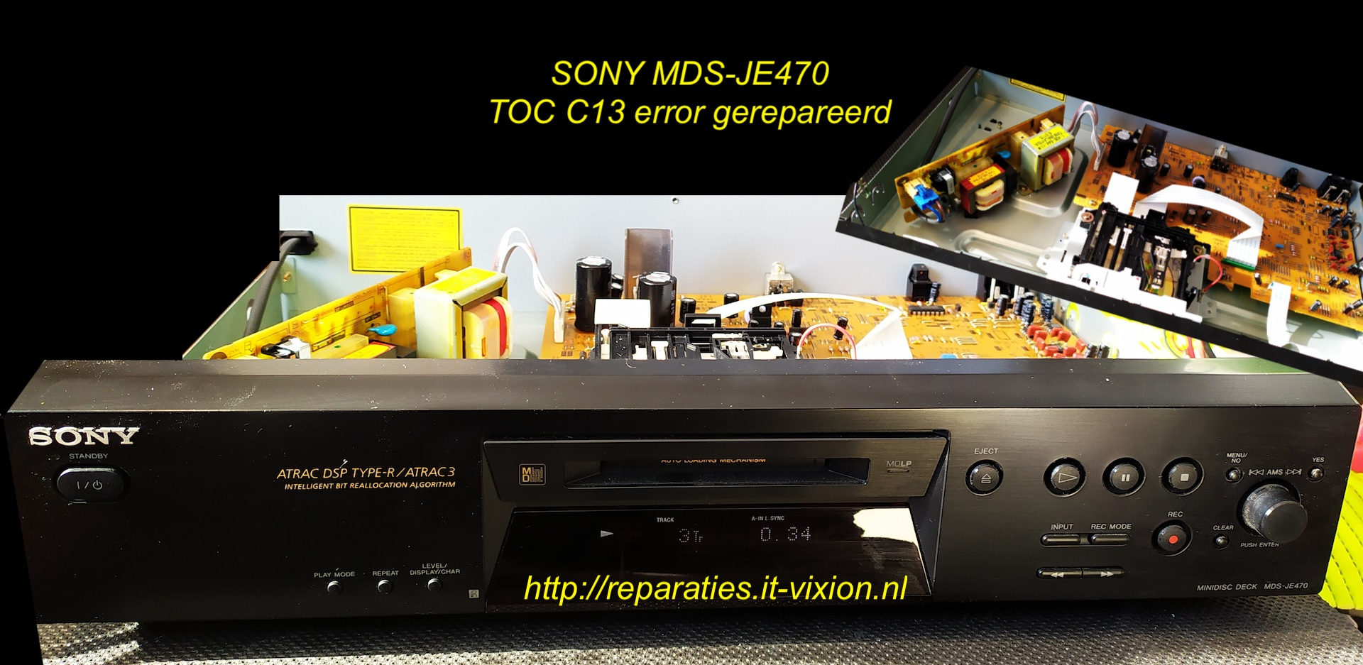 Sony mds-je470 C13 error