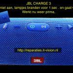 JBL CHARGE 3 gaat weer aan