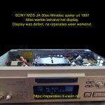 Sony MDS-JA30es Display