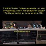 Fisher cr-w77 cassette deck