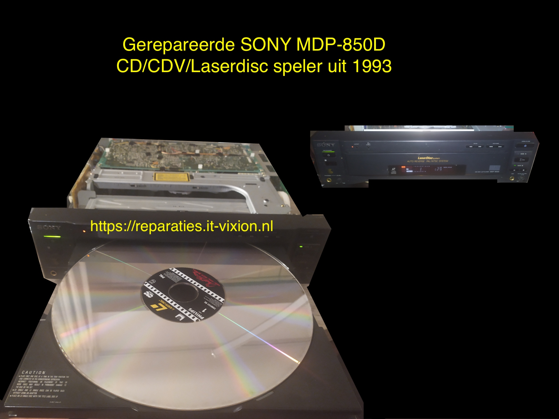 Sony MDP-850D laserdisc