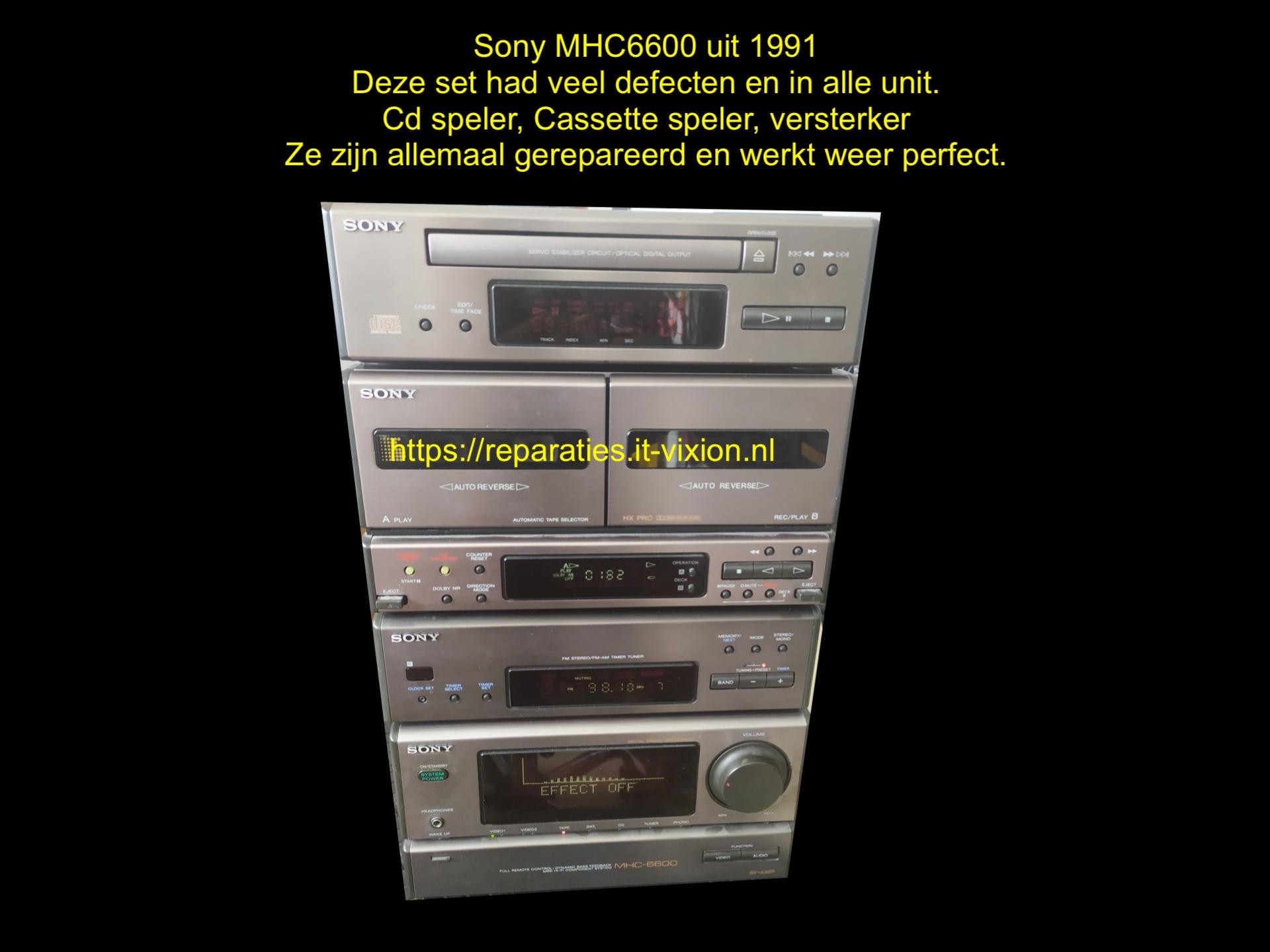 Sony MHC6600 set uit 1991