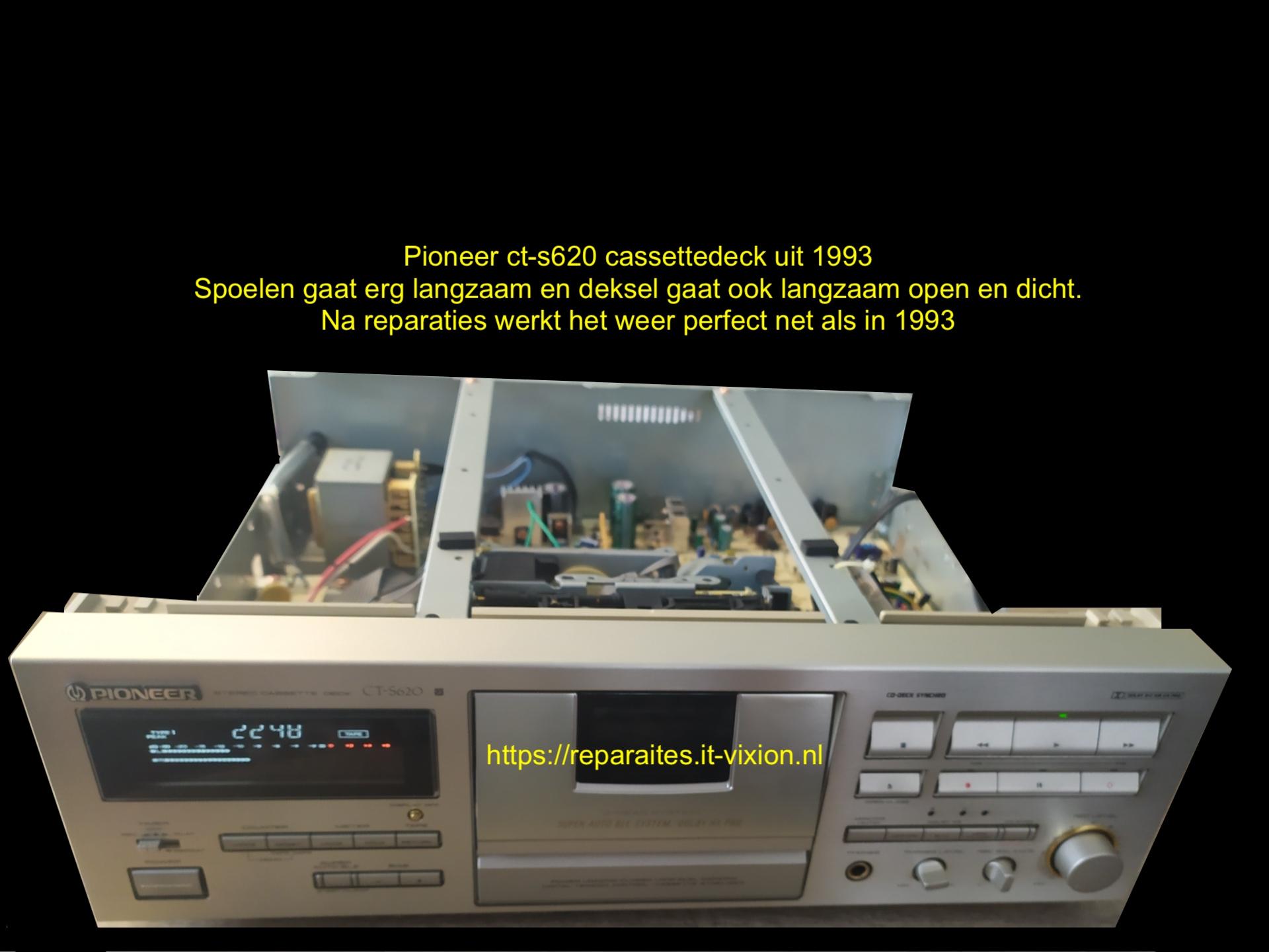 Pioneer ct-s620 cassettedeck uit 1993