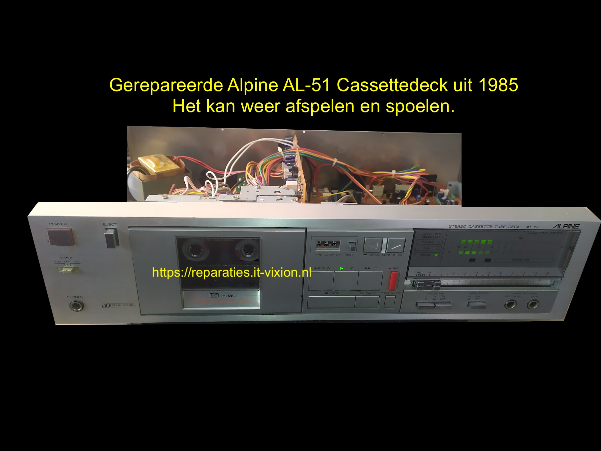 Alpine AL-51 Cassettedeck uit 1985