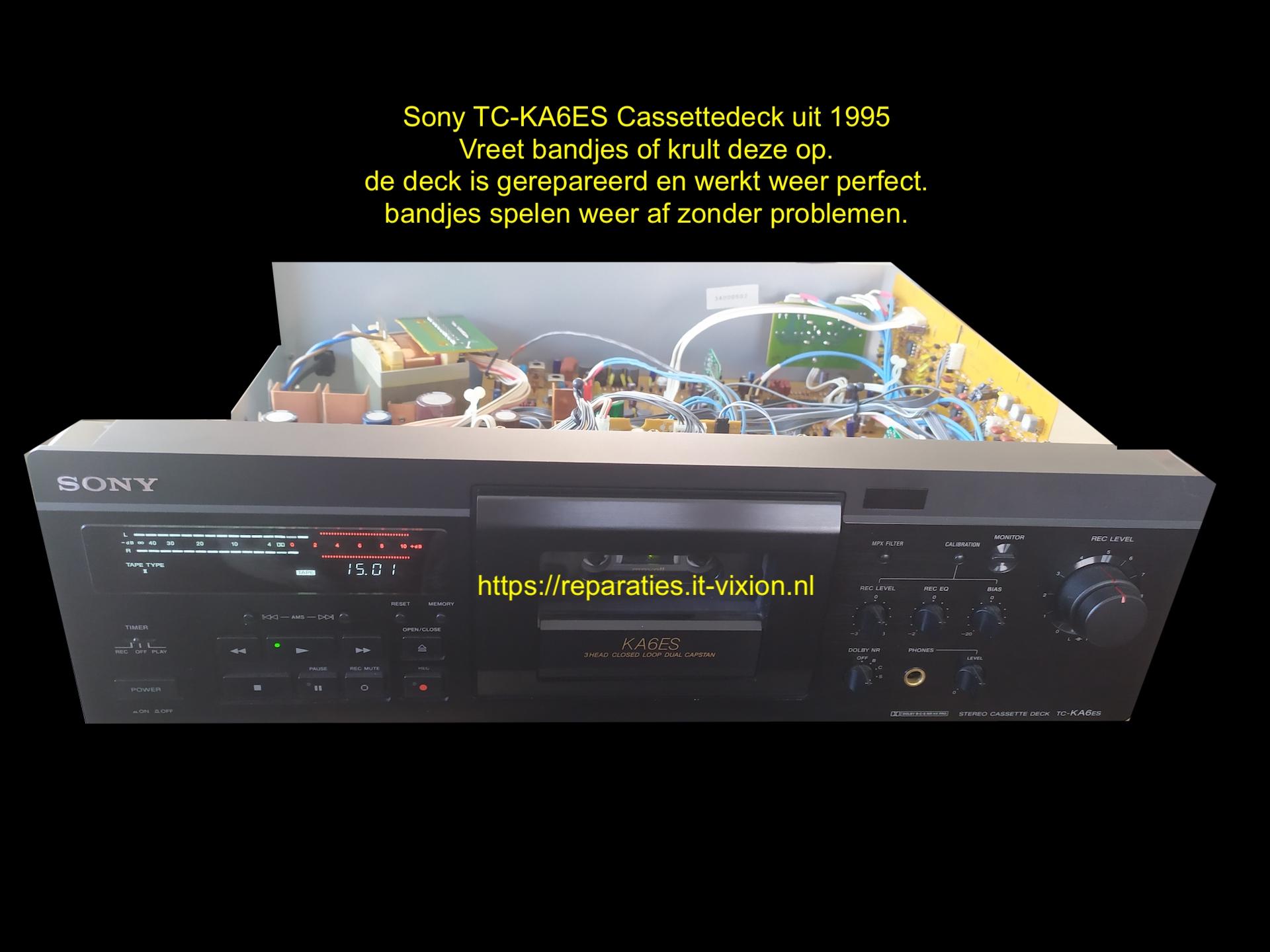 Sony TC-KA6ES Cassettedeck uit 1995